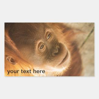 Affaires de singe - édition mignonne superbe sticker rectangulaire