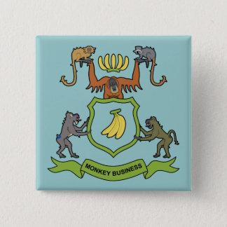 Affaires de singe héraldiques - bouton badge carré 5 cm