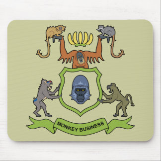 Affaires de singe héraldiques de gorille - tapis de souris