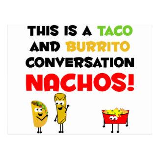 Affaires de taco et de burrito carte postale
