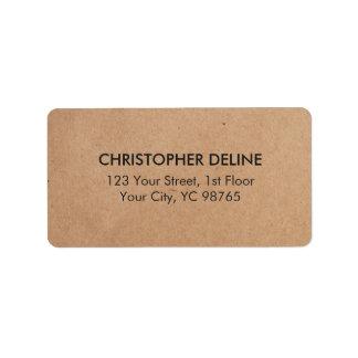 Affaires élégantes minimales simples de papier étiquette d'adresse
