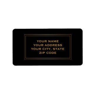 Affaires simples modernes de pensionnaire de carré étiquette d'adresse