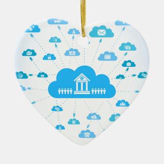 Affaires un cloud3 ornement cœur en céramique