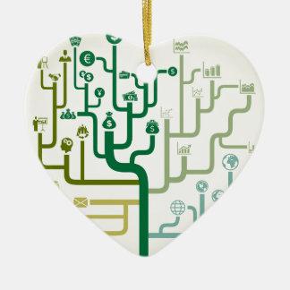 Affaires un labyrinthe ornement cœur en céramique