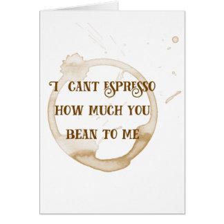 Affections de café de la carte | de Valentine de