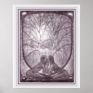 Affiche 16 x 20 de sphinx de Nouveau d'art de Poster