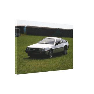 Affiche 1983 de toile de DeLorian DMC12