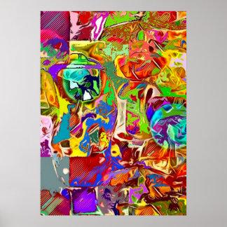 Affiche abstraite psychédélique