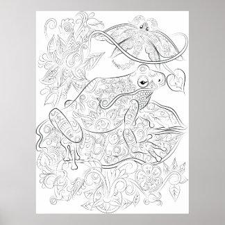 Affiche adulte de coloration de dessin de