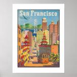 Affiche avec le motif vintage de San Francisco