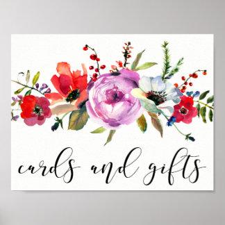 Affiche Boho de cartes et de cadeaux de