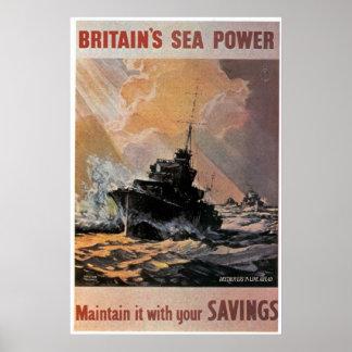 Affiche britannique de Seapower