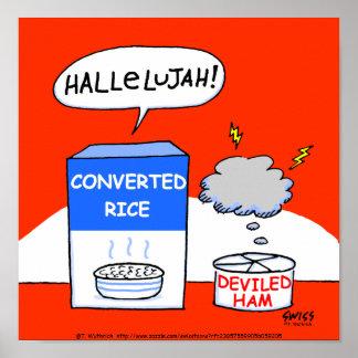 Affiche chrétienne humoristique de cuisine