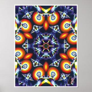Affiche cinétique de kaléidoscope de collage de