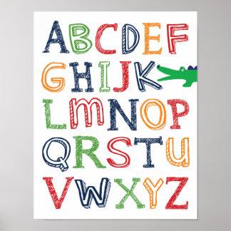 Affiche d'ABC d'alligator