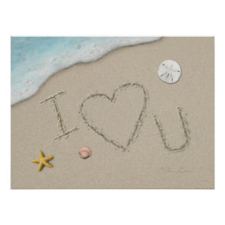 "Affiche d'Alan Giana ""j'aime U"" Poster"
