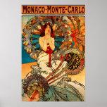 Affiche d'Alphonse Mucha Monte Carlo
