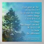 Affiche d'arbre grand de prière de sérénité