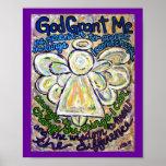 Affiche d'art de peinture d'ange de prière de séré