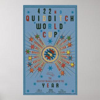 Affiche de bleu de coupe du monde de Quidditch
