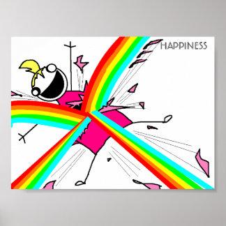 Affiche de bonheur