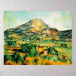 Affiche de Cezanne Mont Sainte-Victoire