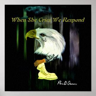 Affiche de cris d'Eagle d'Américain