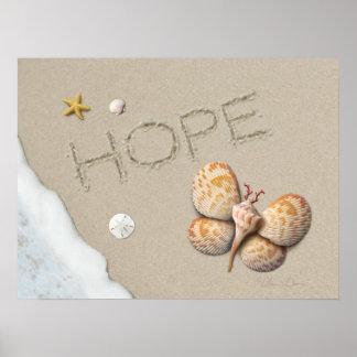 """Affiche de """"espoir"""" d'Alan Giana Poster"""