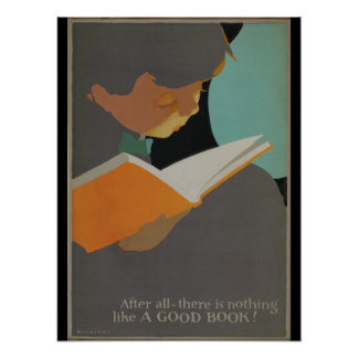 Affiche de la semaine du livre de 1925 enfants poster