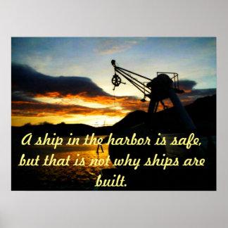 Affiche de motivation avec le thème nautique