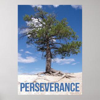 Affiche de motivation d'arbre de persévérance