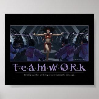 Affiche de motivation de travail d'équipe