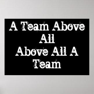 Affiche de motivation d'équipe de sports