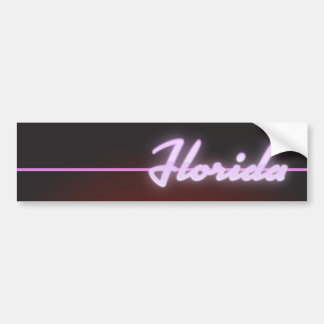 Affiche de néon de la Floride 1984 Autocollant De Voiture