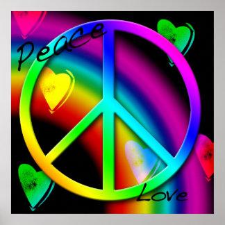 Affiche de paix et d'amour
