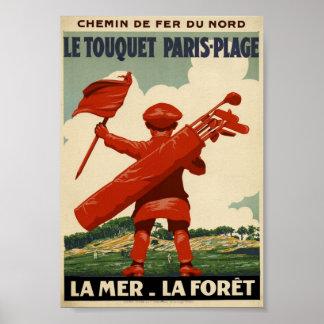 Affiche de Paris-Plage de Le Touquet