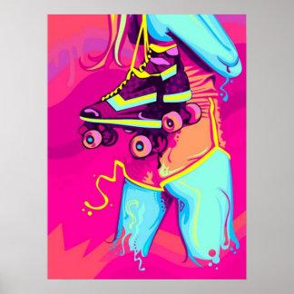 Affiche de patin de rouleau