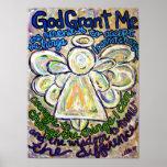 Affiche de peinture d'ange de prière de sérénité (