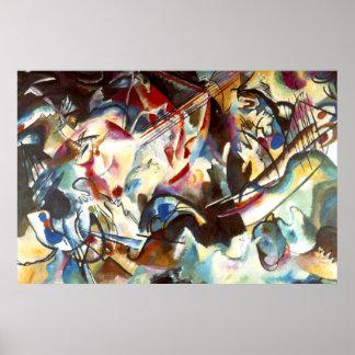 Affiche de peinture d'art de la composition VI en Poster