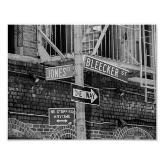 Affiche de plaques de rue de New York City Poster