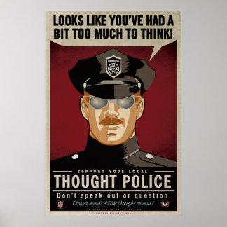 Affiche de police de pensée poster
