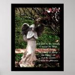 Affiche de prière d'ange et de sérénité