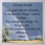 Affiche de prière de sérénité