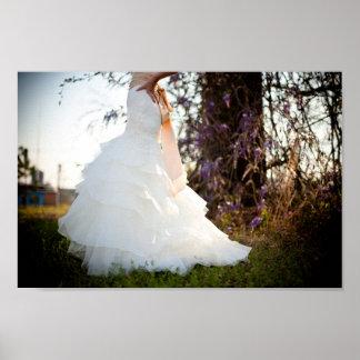 Affiche de robe de mariage