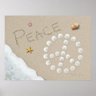 """Affiche de """"signe de paix"""" d'Alan Giana Poster"""