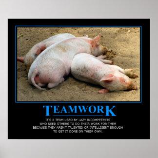 Affiche de travail d équipe