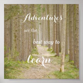 Affiche de typographie de citation d'aventure