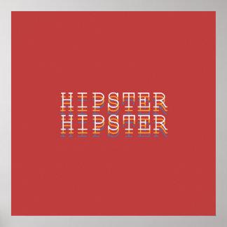 """Affiche de typographie de """"définitions"""" de HIPPIE"""