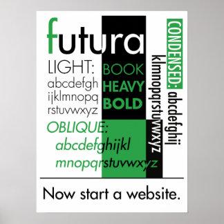 Affiche de typographie de Futura
