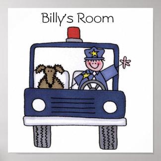Affiche de voiture de police